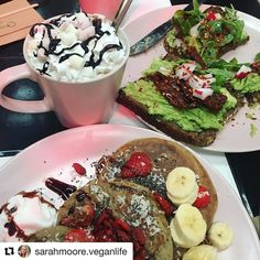 Repost @sarahmoore.veganlife  thank you for choosing to celebrate your big day at #thefeelgoodcafe!  Amazing Birthday Breakfast at @thefeelgoodcafe with my Mum @janny222 xx  The Buckwheat Pancakes were so yummy! & I can't remember the last time I had a hot chocolate with cream and marshmallows  - My mum had the smashed avocado  on rye bread which was sooo goooood!  PS. Thankyou for the free Birthday Cake - such lovely people  I cannot wait to revisit !!  #BirthdayGirl #veganbirthday…