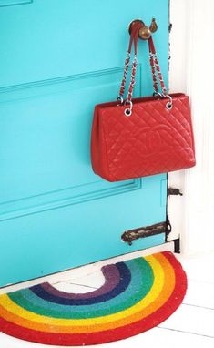 Chanel GST handbag and rainbow doormat. Chanel bag inspiration. Chanel  handbag love 2e3a6d47644
