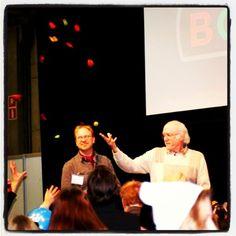 #ankkamestari #DonRosa #throwing #chili to audience #KirjaMessut2014 #BookFair2014 #Helsinki #sarjikset #comicBooks