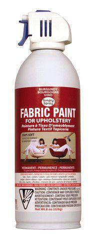 Maudjesstyling: Burgundy Upholstery Fabric Paint