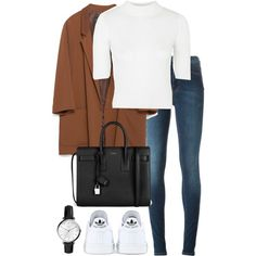 A fashion look from October 2015 featuring Topshop sweaters, Zara blazers and Acne Studios jeans. Browse and shop related looks.