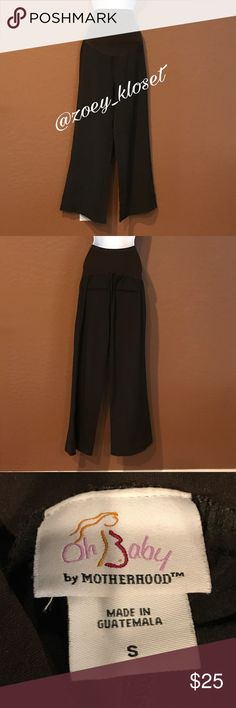 """🆕Oh Baby by Motherhood Brown Wide Leg Pants Never Worn, Stretch Tummy Over Waist, Back Flat Pockets, Wide Legs, Perfect for the Office. Waist 25"""" Hip 35"""" Length 43"""" Inseam 29"""" Oh Baby by Motherhood Pants Wide Leg"""