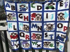 Ravelry: Project Gallery for Alphabet Monkey Blanket pattern by ShoedivaOriginals