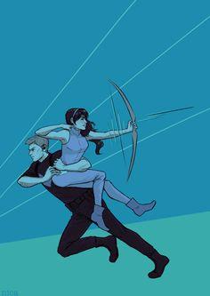 Marvel Universe - Clint Barton x Kate Bishop - ClintKate