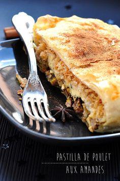 Pastilla de poulet aux amandes | Stephatable