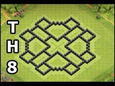 Best Clash of Clans Town Hall 8 Farming Base | Updated 4 Mortars TH8 Base | Design by Gozo COC - YouTube
