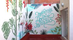 Mural realizado en colaboración con María Lopez & Javier de Riba, un dúo de diseñadores e ilustradores españoles especialistas en tipografía, creadores de Reskate Estudio.  Realizado en 3 días del caluroso verano catalán en la terraza del estu...
