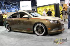"""Custom Chevy Cruze """"Svelt"""" project........ Planet color paint, Axiom Wheels, Pedders suspension, By Rick Bottom Designs"""