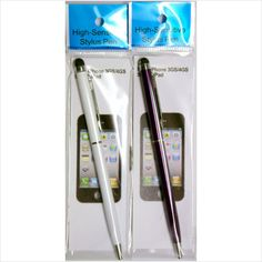 2 of these Styli. 1 in White 1 in Purple One end is a Stylus and the other is a ball point pen.  £1.99 on ebid