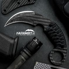 Schwartz Tactical Carbon Fiber Titanium Rex Karambit - Karambit.com
