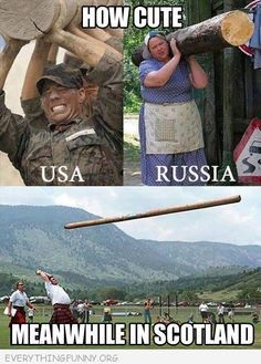 funny log carrying in usa russia scotland
