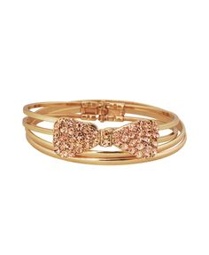 Rhinestoned Bow Bracelet Set | FOREVER21 - 1017265591