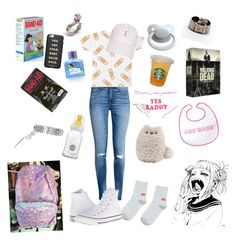 """""""Band-aid baby"""" by rainythedarklord on Polyvore featuring GET LOST, H&M, Converse and ban.do"""