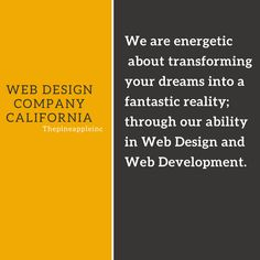 Thepineappleinc is a US based web design and development firm that has practical experience in result-driven sites that convey best results. #webdevelopmentcompany #mobileresponsivewebdesign  #webdevelopmentusa #onlinewebdevelopment #california #webdesigncompanycalifornia #webdevelopmentwebsite