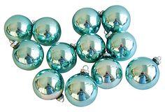 Teal    Ornaments, S/12 on OneKingsLane.com