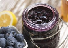 Canning Blueberry Lemon Jam. I've made this already... 44 half-pints, to be exact but I'm pinning it so I don't lose the recipe! This is SO yummy! It took a week for mine to set properly, but I quadrupled the lemon and LOVE how this turns out!