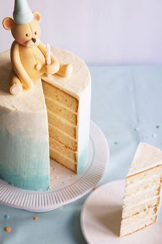 Vanilla bean cake with buttercream frosting