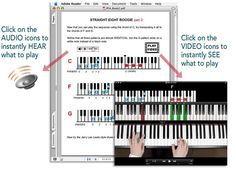 It's The Easiest Way To Learn Piano (See an example of the material inside the program)