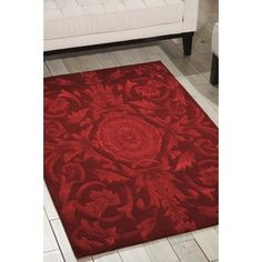Shop for Nourison Hand-tufted Moda Medallion Ruby Red Rug (7'6 x 9'6). Get free shipping at Overstock.com - Your Online Home Decor Outlet Store! Get 5% in rewards with Club O!