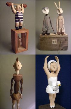 Automaton fab contemporary ,modern design to the figures on these automata make them great for interactive decor ,interactive art ornaments in modern home