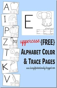 Free printable alphabet worksheets for toddler, preschool, and kindergarten. These are great for kids to practice uppercase letters along with an alphabet coloring portion which is great for refining fine motor and writing readiness skills! Great resource for preschool or homeschool families.