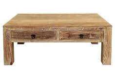 One Kings Lane - The Coffee Table - Montauk Coffee Table, Dirftwood