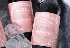 Vintage Wedding Beer Bottle Labels  Beer Labels  Custom Beer