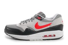 Nike Air Max 1 Essential Dark grey Chilling Red Wolf Grey 537383 016