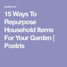 15 Ways To Repurpose Household Items For Your Garden | Postris