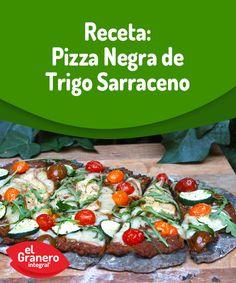 #Pizza negra de trigo sarraceno. #recipe