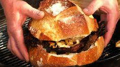 Smoked Bacon, Fried Onion and Cheese Sandwich Smoked Bacon, Fried Onion, and…