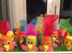 Danoontje vogels Healthy Treats, Trick Or Treat, Spring Time, Diy For Kids, Party Time, Giraffe, Food And Drink, Recycling, Crafts For Kids