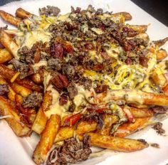 Loaded Philly Steak & Cheese Fries!