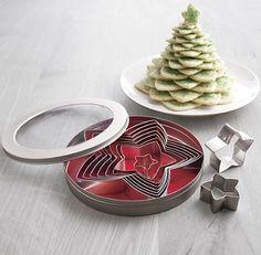 USE PANCAKE BATTER.  Yummy star sugar cookie cutter Christmas tree! or use to make pancake stack