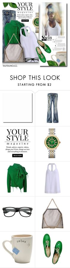 """""""SheIn 8"""" by barbarela11 ❤ liked on Polyvore featuring American Eagle Outfitters, Pussycat, Michele, Marques'Almeida and Christian Louboutin"""