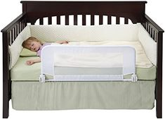 DexBaby Safe Sleeper Convertible Crib Bed Rail for Toddle...