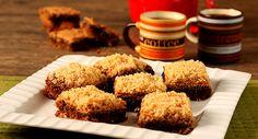 Brownie com gostinho de café e cobertura cremosa de paçoca: in-crí-vel!
