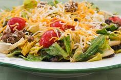 Kalyn's Perfect Recipe for Taco Salad; I have been making this for years and years, although now I often skip the cheese.  [from Kalyn's Kitchen] #SouthBeachDiet