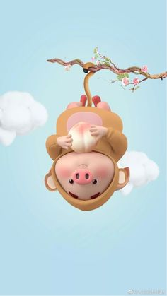 Pig Wallpaper, Funny Iphone Wallpaper, Disney Wallpaper, This Little Piggy, Little Pigs, Cute Rabbit Images, Cute Chinese Baby, Kawaii Pig, Movie Night For Kids
