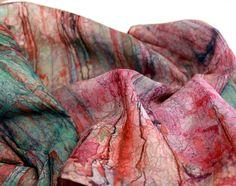 Silk Scarf. Painting. Wearable Art. Wrap Shawl. by ColorOfJoyPS, $225.00