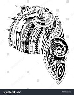 Maori Style Tattoo Design stock vector for (royalty free) 55667996 … - maori tattoos Maori Tattoos, Maori Tattoo Frau, Maori Tattoo Meanings, Maori Tattoo Designs, Marquesan Tattoos, Samoan Tattoo, Leg Tattoos, Body Art Tattoos, Small Tattoos