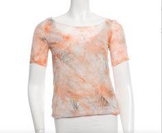 37af8841e Nina Ricci Top Peach Bateau Neckline, Nina Ricci, Short Sleeve Blouse,  Printed Shorts. Tradesy
