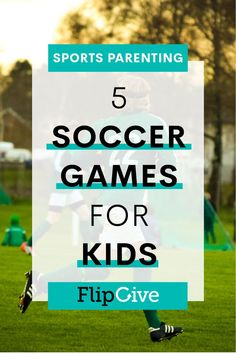 Soccer doesn't always have to be a competitive sport. When it comes to entertaining the kiddies with soccer, there are a plethora of games to play that will help develop skills while also allowing the kids to let loose and have fun. Soccer Practice Plans, Soccer Games For Kids, Youth Soccer, Kids Sports, Soccer Art, Soccer Poster, Soccer Sports, Soccer Tips, Sports Games