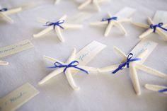 Nautical Starfish Escort Cards - Alexandra Meseke Photography