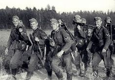 Infantrymen from 291st Infantry Division (Regiment 506) after first days of Operation Barbarossa.