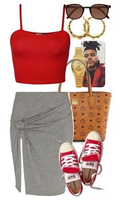 """Untitled #1383"" by power-beauty ❤ liked on Polyvore featuring Rolex, MCM, WearAll, River Island, Fergie, Converse and Cutler and Gross"