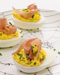 Deviled Eggs With Country Ham