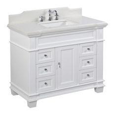 Want to order Elizabeth Bath Vanity Base: White 42 Top: Quartz