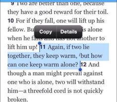 The bible promotes cuddling? :D