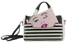 Betsey Johnson Winkyface Stripe Satchel. Save big on the Betsey Johnson Winkyface Stripe Satchel! This satchel is a top 10 member favorite on Tradesy. See how much you can save.